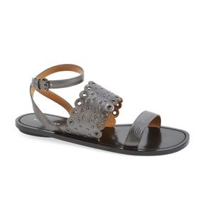Coach Clarabel studded flat sandals